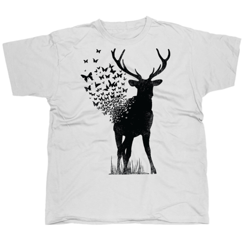 Deer Butterfly mintás póló