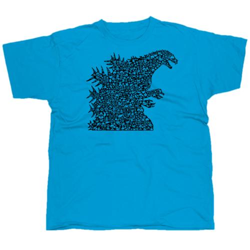 Godzilla mintás póló