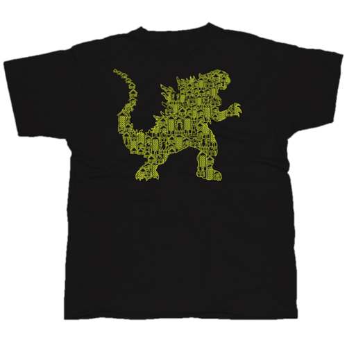 Kaiju2 mintás póló