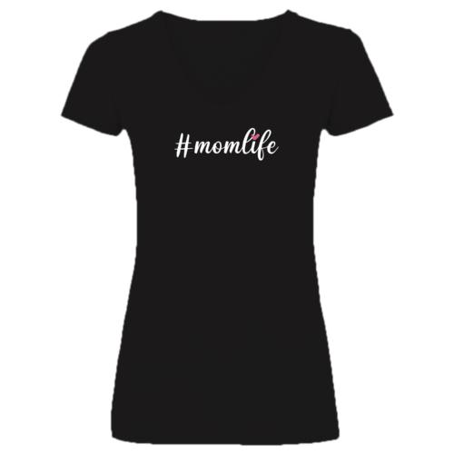 """""""#momlife"""" feliratos anyák napi póló"""