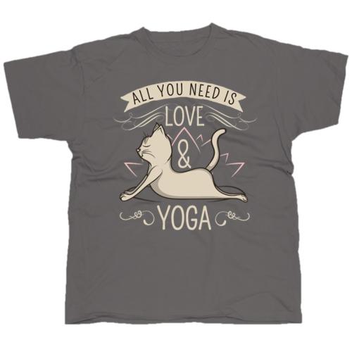 Love and yoga póló