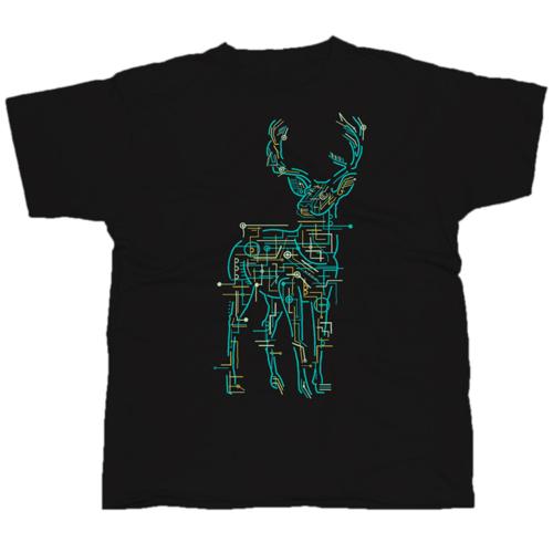 Electric Deer mintás póló