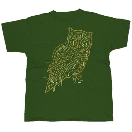 Electric Owl mintás póló