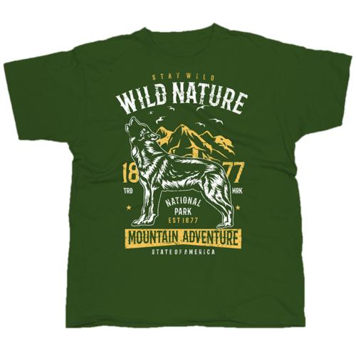 Wild Nature farkasos póló