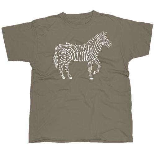 Zebra Bones mintás póló