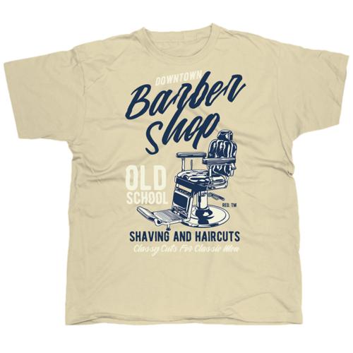 Downtown Barber Shop mintás póló