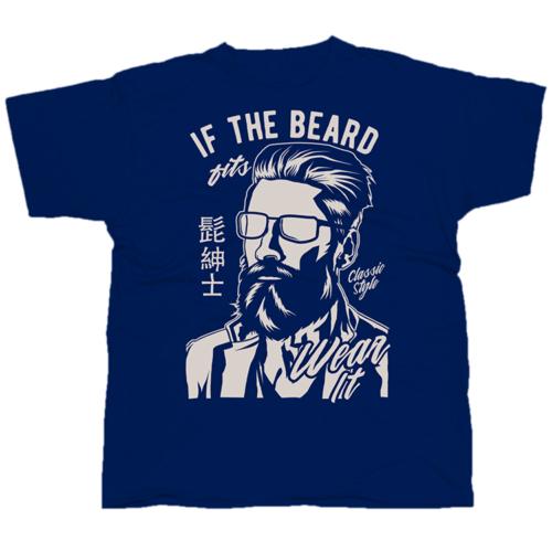 If The Beard mintás póló