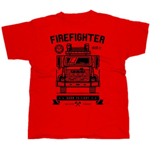Firefighter Born to Fight póló