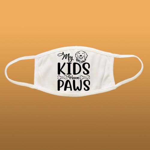 My Kids Have Paws mintás szájmaszk